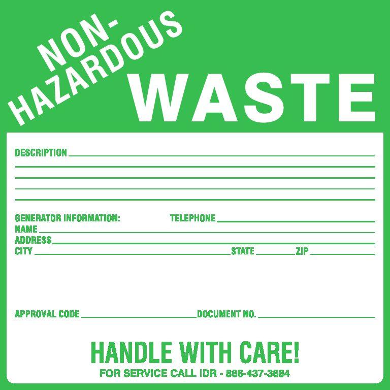 photograph about Free Printable Hazardous Waste Labels named Destructive Squander Labels